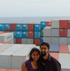 Barnali and Anirvan, aboard cargo ship